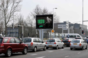 Billboards en steigerdoek reclame